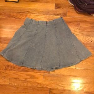 Comfy and cute acid wash skater skirt by Garage